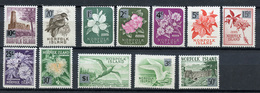 1966 - NORFOLK ISLAND - Mi. Nr. 62/73 - NH -  (UP.70.4) - Isola Norfolk