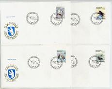 GREENLAND 1988 Birds II. On FDCs .  Michel  181-84 - FDC
