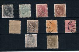 España. Serie Completa De Alfonso XII Con Sellos Nuevo Y Usados - 1875-1882 Reino: Alfonso XII