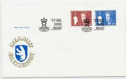 GREENLAND 1988 Queen Margarethe Definitive 3.00, 4.10 Kr.  On FDC.  Michel  179-80 - FDC