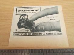 Page De Revue Des Années 60/70 : PUBLICITE MATCHBOX ROULEAU COMPRESSEUR ; Dimensions : Voir Règle Sur La Photo - Catalogues