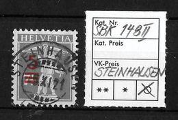 1915 - 1930 AUFBRAUCHSAUSGABEN → SBK-148II, 5.XI.21  ►STEINHAUSEN◄ - Gebraucht