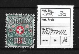 1910 SCHWEIZER WAPPEN UND ALPENROSEN → SBK-30, 15.V.14  ►HUTTWIL◄ - Portomarken
