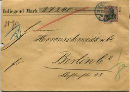ENV 5 - Allemagne   :  Brief Geladen - LETTRE CHARGEE  : De  MAGDEBURG  à  08/.1906  - 1 Timbre 50  D.Reich - Deutschland