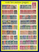 FRANCE VRAC : ENVIRON 600 OBLITÉRÉS 1900-1939 À TRIER - BEAUCOUP DE ST / 2e CHOIX OU OBLITÉRATIONS LOURDES - - Stamps