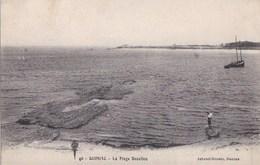 44 QUIMIAC  Jolie Vue Bord De MER  PLAGE BEAULIEU Barque De Pêcheur  Ecrite De MERQUEL En 1921 - Frankreich