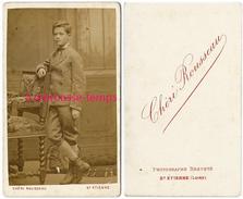 CDV Beau Jeune Homme élégant Vers 1885-photo Chéri Rousseau à Saint Etienne - Photos