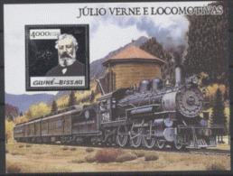 Guinée Bissau  2005  Jules Verne  Argent  Train - Célébrités