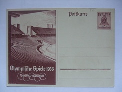 GERMANY - 1936 Postkarte - Mi P 260 Olympischen Spiele - Alemania