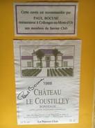 6212 - Château Le Coustilley 1988 Savour Club Paul Bocuse - Bordeaux