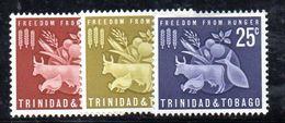 T240 - TRINIDAD TOBAGO 1963 , Serie Yvert N. 197/199  **  FAME - Trindad & Tobago (1962-...)