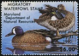 MARYLAND 1989 USA State Ducks Birds Hunting Wildlife Fauna MNH - Vereinigte Staaten