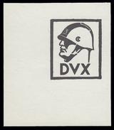 DVX - Benito Mussolini - Erinnofilo (chiudilettera) C - Erinnofilia