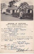 Vintage Postcard.Kingdom Of Scotland.Gretna Green.Marraige Card. - History