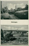 AK Esterwegen, Kirche, Dorfpartie Mit Esterweger Busch, Ca. 1930/40er Jahre (27616) - Duitsland