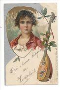 18821 -  Femme Et Mandoline  1910 Raphael Tuck Sons Art N°1698 - Femmes