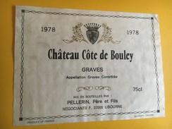 6215  - Château Côte De Bouley 1978 Graves - Bordeaux