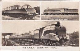 "Valentine Real Photo Multi View Postcard.The ""Coronation"" Train - Trains"