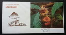 Antigua Seashell & Mushroom 1999 Shells Mushrooms Plant (miniature FDC) - Antigua Et Barbuda (1981-...)