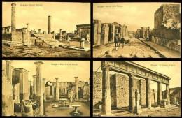 POMPEI - Lot De 12 Cartes Postales Anciennes (certaines Animées) - Pompei