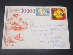 POLYNÉSIE - Enveloppe Illustrée De Papeete Pour La France En 1977 , Affranchissement Plaisant - L 10683 - Polynésie Française
