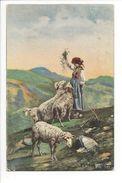 18833-  Pecoraia Moutons Et Bergère - Animaux & Faune