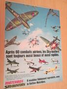 Page De Revue Des Années 70/80 : PUBLICITE  AVIONS MODELES REDUITS SKYBUSTERS MATCHBOX  Format  PAGE A4 - Airplanes & Helicopters