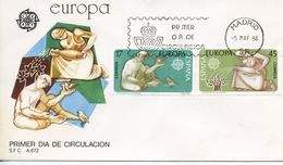 SPAIN  -    1986 EUROPA STAMPS - Nature Conservation   FDC2416 - FDC