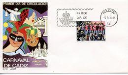 SPAIN  -    1986 Cadiz Carnival   FDC2417 - FDC