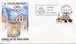 SPAIN  -    1986 Our Lady Of The Dew Festival, Almonte   FDC2418 - FDC