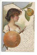 18834-  Portrait De Femme Et Pommes Raphael Tuck Sons Art N° 1701 - Femmes