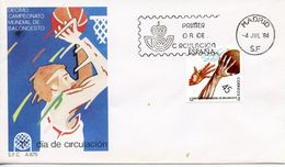 SPAIN  -    1986 World Basketball Championships   FDC2420 - FDC