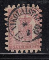 Finland 1866-74 Used Scott #10 40p Coat Of Arms, III Cancel: Nikolaistad - 1856-1917 Russian Government