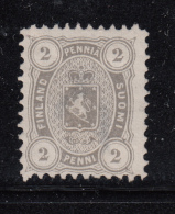 Finland 1875-81 Unused Scott #17 2p Coat Of Arms Dot In Lower Left 2, Value Circles Mis-shapen - 1856-1917 Administration Russe