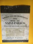 6244 - Château La Fagnouse 1972 Saint-Emilion Etat Moyen - Bordeaux