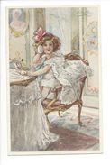 18835-  La Beauté Fillette Dans Fauteuil Par Elda Cenni + Verificato Per Censura 1917 - Illustrateurs & Photographes