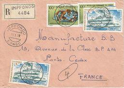 Congo 1978 Impfondo Copper Zinc Deposit Mineral Aurichalcite Boat Registered Cover - Mineralen
