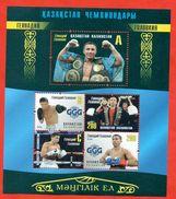 Kazakhstan 2016.Block. The World Champion In Boxing. Triple GGG. G.G.Golovkin. - Kazakhstan