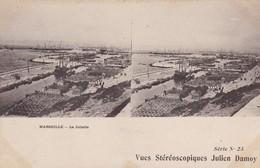 13 / MARSEILLE / LA JOLIETTE / VUES STEREOSCOPIQUES JULIEN DAMOY - Cartes Stéréoscopiques