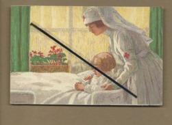 CPA - Croix Rouge , Infirmière  ,malade - Suisse , Helvetia - Croce Rossa