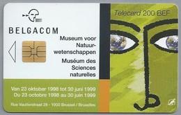 BE.- België. Telecard.- BELGACOM. MUSEUM VOOR NATUURWETENSCHAPPEN. MUSÉUM DES SCIENCES NATURELLES 1999. - IJ 030299 - Belgique