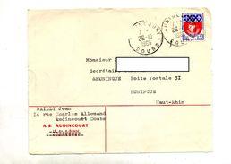 Devant De Lettre Cachet Audincourt Entete Club Football - Marcophilie (Lettres)
