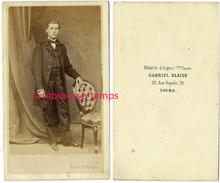 CDV Second Empire-jeune Homme Très élégant-photo Gabriel Blaise à Tours - Old (before 1900)