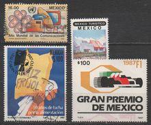 MEXIQUE  N°1005/1192/1204/1205__OBL VOIR SCAN - Messico