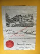 6262 - Château Fonbadet 1979  Pauillac - Bordeaux