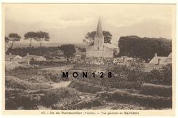 ILE DE NOIRMOUTIER (85)  BARBATRE - VUE GENERALE DE BARBATRE - EDIT. J.NOZAIS (église,cimetière) - Ile De Noirmoutier