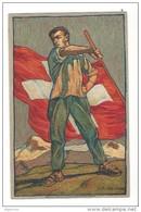 N16- Fête Nationale Bundesfeier Carte N°3  Carte Neuve 1912 (carton Blanc) - Entiers Postaux