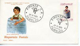ITALY  -     1971 Postal Savings Bank    FDC2443 - 6. 1946-.. República