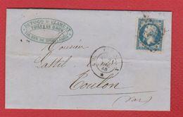 Bordereau  / De Paris  / Pour Toulon  / 21 Décembre 1860 - Postmark Collection (Covers)