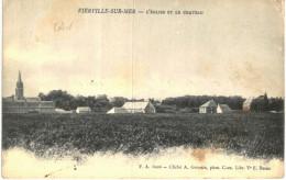 VIERVILLE SUR MER .... L EGLISE ET LE CHATEAU - France